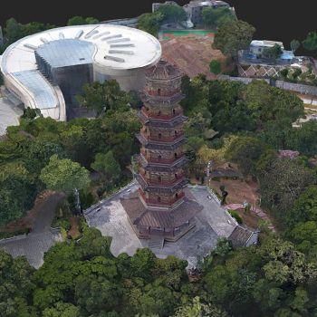 广东河源市 · 龟峰塔-三维模型