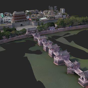 广东潮州市 · 广济桥-三维模型