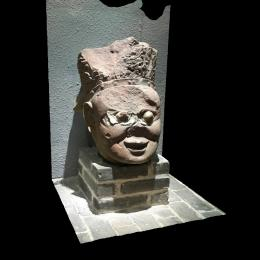 天王像残件头部-三维模型