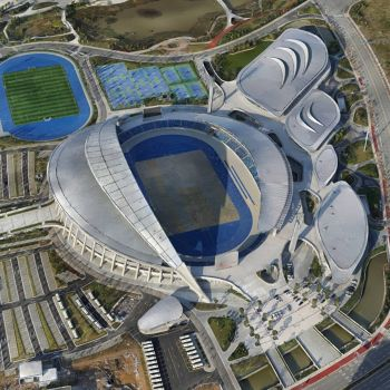 江门市滨江体育中心-三维模型