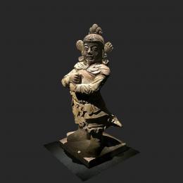 彩釉陶将军俑-三维模型