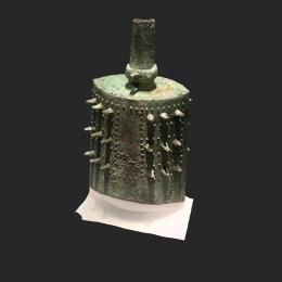 云纹铜俑钟-三维模型