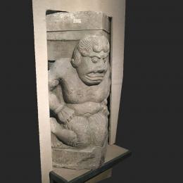 力士像石刻-三维模型