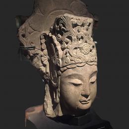 菩萨头石像-三维模型