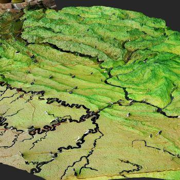 宋元战争山城防御体系沙盘-三维模型