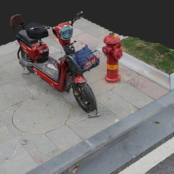 小红电动车-三维模型