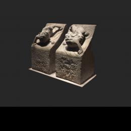 左宗棠故居-神兽石构件-三维模型