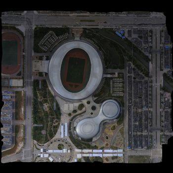 曲靖市体育馆-三维模型